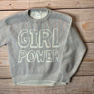 Zara girl power sparkly sweatshirt size 11/12